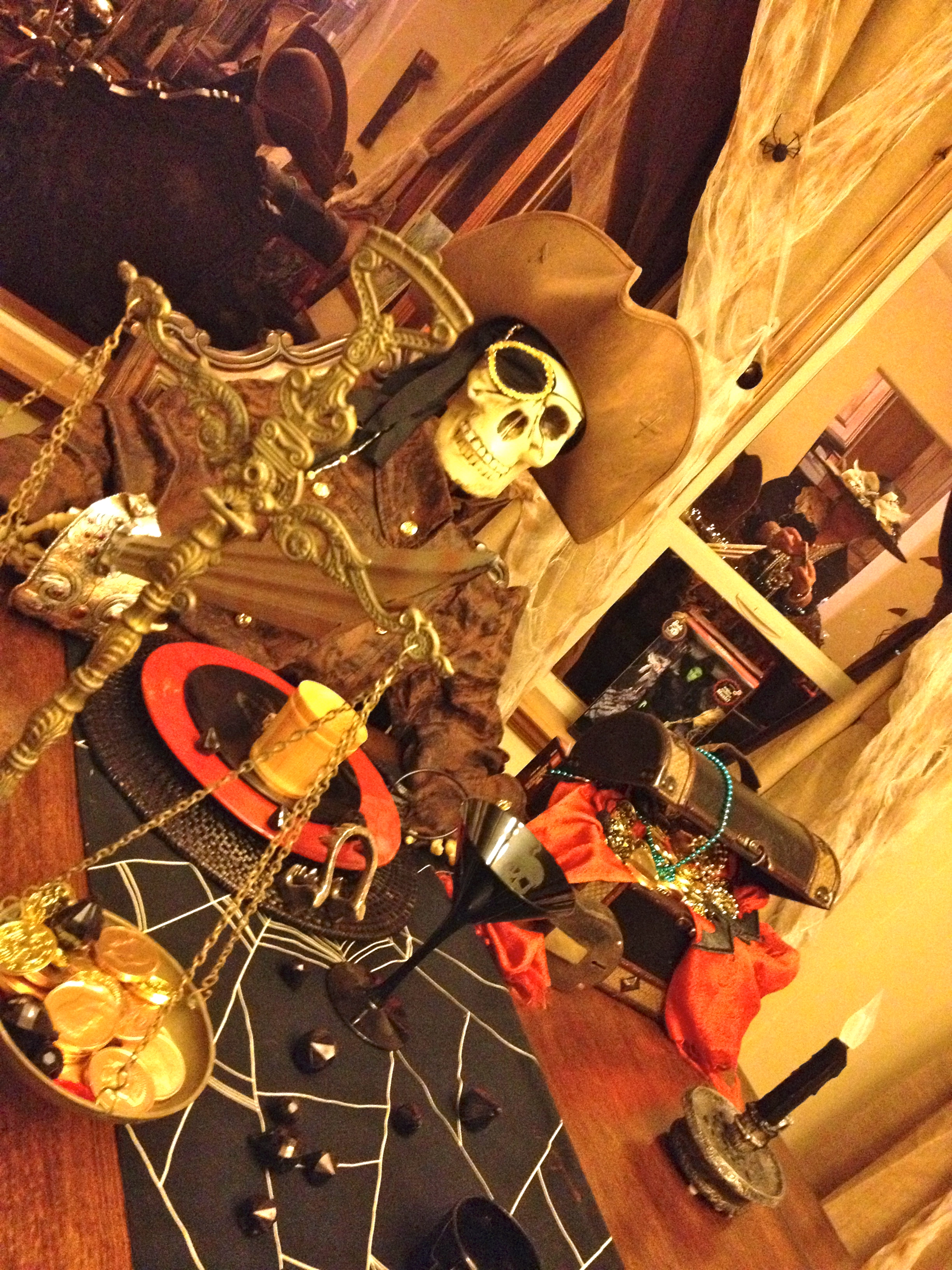 {for some Halloween is a lifestyle} Jamie Soucey is a FREAK! One Eyed Willy  and the dining room table. SERIOUSLY!